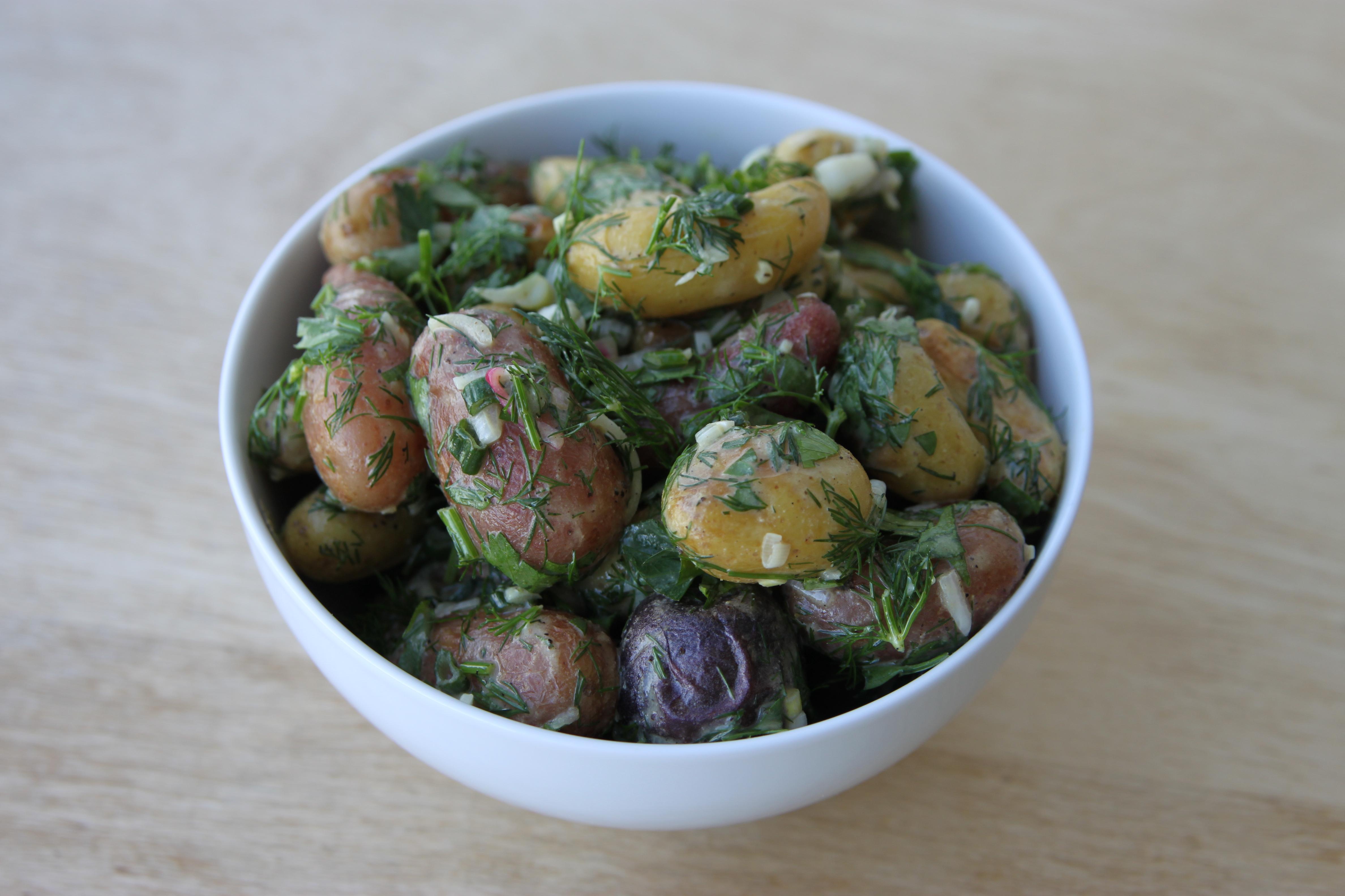 Warm Provençal Potato Salad | Juris Epicurus